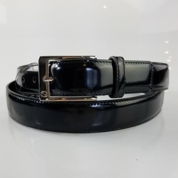 0a17bd33d86 NWT Black Patent Gucci Leather Belt